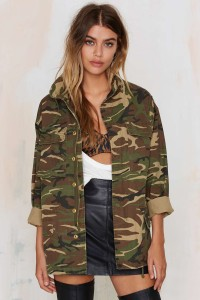 nasty gal army coat