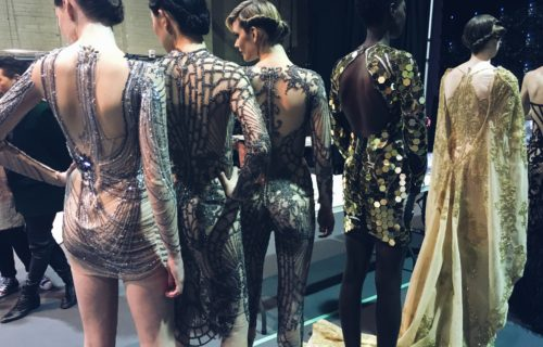Backstage at toronto women's fashion week